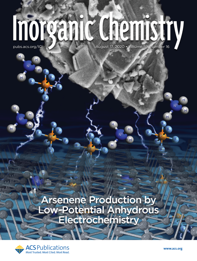 Our work on cover of ACS Inorganic Chemistry journal